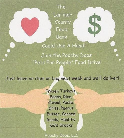 Pets for people food drive